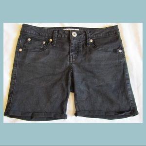 GUESS Black High-Waisted Jean Shorts
